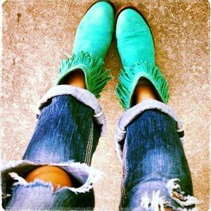 Liberty Black Vegas Turquoise boots